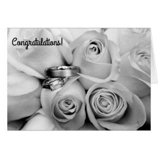 婚約のcongratuationsの白黒ノート車 カード