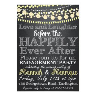 婚約パーティの招待状 カード