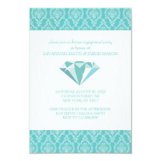 婚約パーティの招待状(ティール(緑がかった色)) 8.9 X 12.7 インビテーションカード