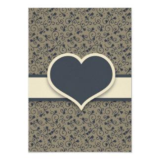 婚約パーティの招待 カード
