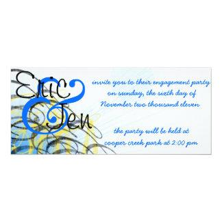 婚約パーティのinvitaion カード