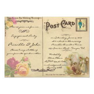 婚約パーティ、ヴィンテージ、古い郵便はがきのスタイル カード