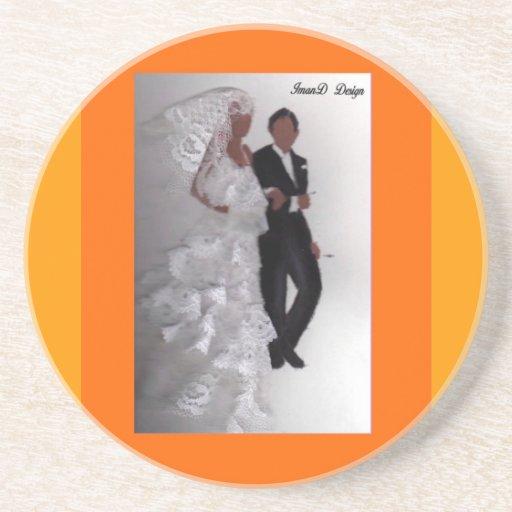 婚約結婚式|日|コースター 飲み物用コースター