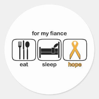 婚約者は睡眠の希望-白血病--を食べます ラウンドシール