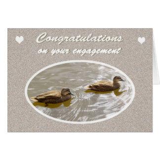 婚約、組のお祝いのアメリカオシ カード