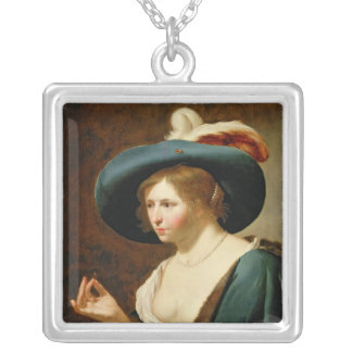 婚約: 花嫁、c.1630 シルバープレートネックレス