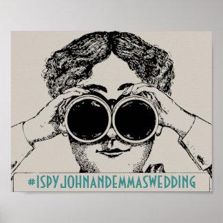 媒体のHashtagの社会的な印を結婚しているヴィンテージIのスパイ ポスター