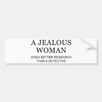 嫉妬深い女性 バンパーステッカー