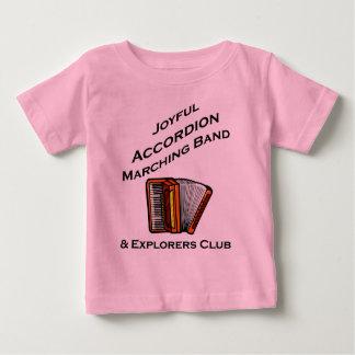 嬉しいアコーディオンのマーチングバンド ベビーTシャツ