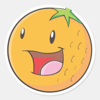 嬉しいオレンジ ラウンドシール