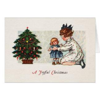 嬉しいクリスマス-ヴィンテージ カード