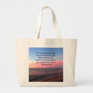 嬉しいジェレミアの29:11の日の出 ラージトートバッグ