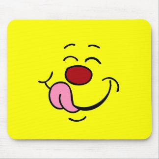 嬉しいスマイリーフェイスGrumpey マウスパッド