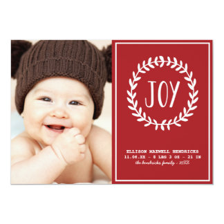 嬉しいハート|の休日の誕生の発表 12.7 X 17.8 インビテーションカード