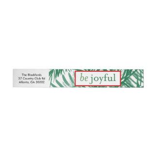 嬉しい水彩画のクリスマスツリーのラベルがあって下さい ラップアラウンド宛名ラベル