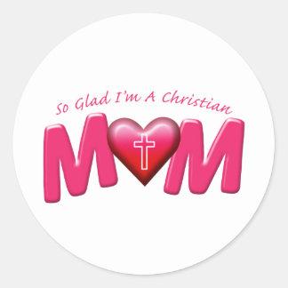 嬉しい私はキリスト教のお母さんです ラウンドシール