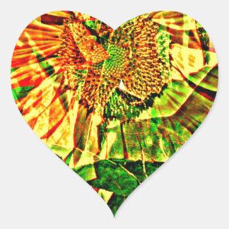 嬉しい花 ハートシール