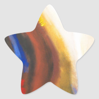 嬉しい覚醒(抽象的で精神的な象徴性) 星シール