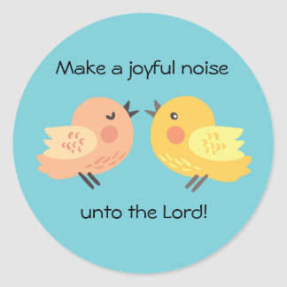 嬉しい騒音に小さい鳥をステッカーして下さい ラウンドシール
