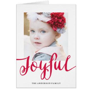 嬉しい|の休日の写真の挨拶状 グリーティングカード