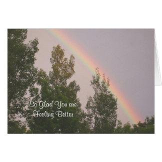 嬉しい-虹および木よりよく感じています カード