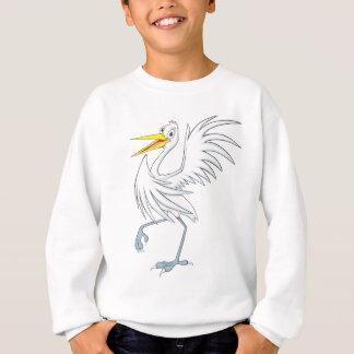 嬉しく素晴らしく白い白鷺 スウェットシャツ