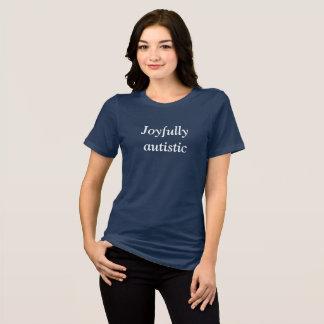 嬉しく自閉症 Tシャツ