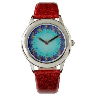 嬉しく、明るいティール(緑がかった色)の白熱織り方 腕時計