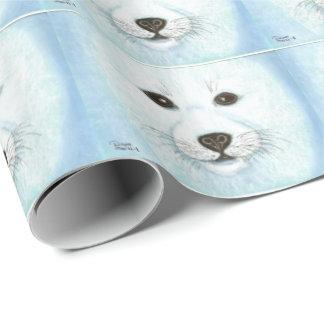 子どものアシカの子犬 包み紙