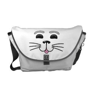 子どものアシカ-かわいいグラフィックアートのメッセンジャーバッグ メッセンジャーバッグ