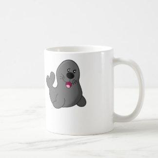 子どものアシカ-白いコーヒー・マグ コーヒーマグカップ