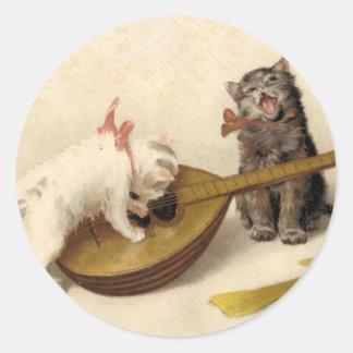 子ネコおよびマンドリン ラウンドシール
