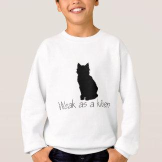 子ネコとして弱い スウェットシャツ