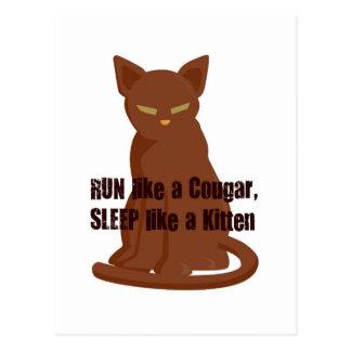 子ネコのようなクーガーの…睡眠のような操業 ポストカード