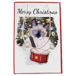 子ネコのキャロルの休日媒体のギフトバッグ ミディアムペーパーバッグ