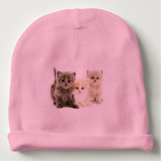 子ネコのベビーの帽子 ベビービーニー