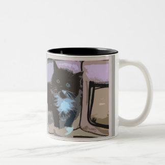 子ネコのマグ! ツートーンマグカップ