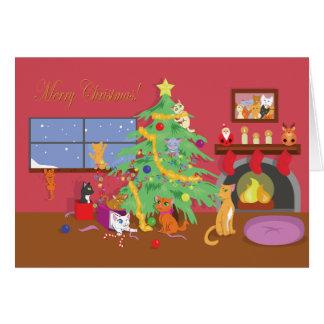 子ネコの初めてのクリスマス カード