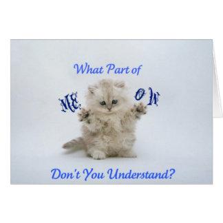 子ネコの猫の鳴き声の態度 カード