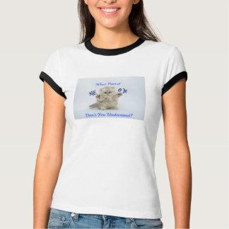 子ネコの猫の鳴き声のTシャツ Tシャツ