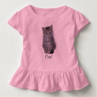 子ネコの虎猫の芸術 トドラーTシャツ