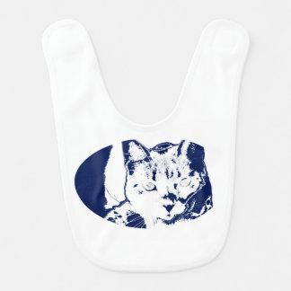 子ネコは青く白く端正なネコ科猫のイメージをposterized ベビービブ