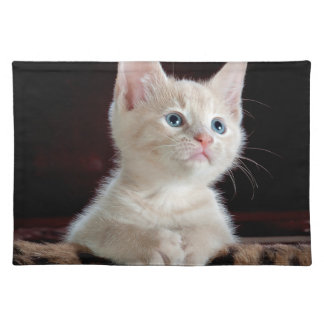 子ネコ: 魅惑的な時の~ ランチョンマット