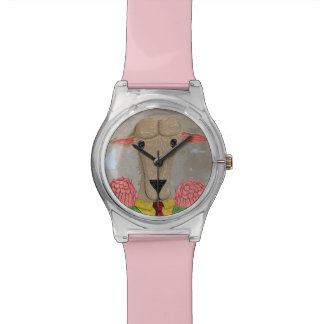 子ヒツジのガーリーな腕時計 腕時計