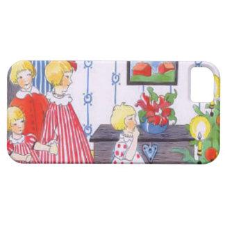子供およびクリスマスツリー iPhone SE/5/5s ケース