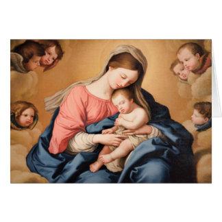 子供および天使のマドンナ カード