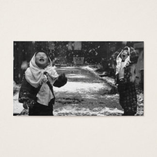 子供および雪 名刺