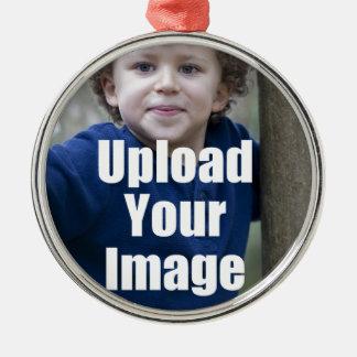 子供からのあなた自身の名前入りな写真のマグを作成して下さい メタルオーナメント