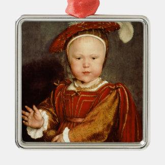 子供としてエドワード六世、c.1538のポートレート メタルオーナメント