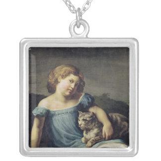 子供としてルイーズVernet、1818-19年のポートレート シルバープレートネックレス